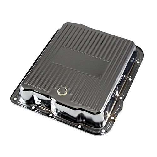 - Assault Racing Products A7599 GM 700R4 4L60E Chrome Transmission Pan Stock Capacity Automatic Trans 4L60 4L65E