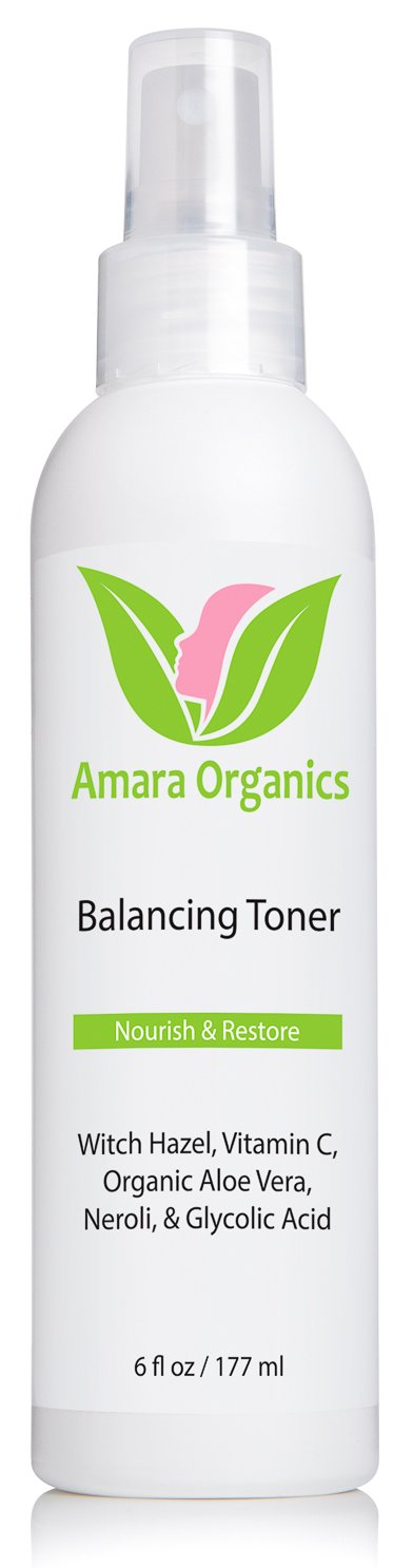 Amara Organics Facial Toner with Witch Hazel & Vitamin C, 6 fl. oz.