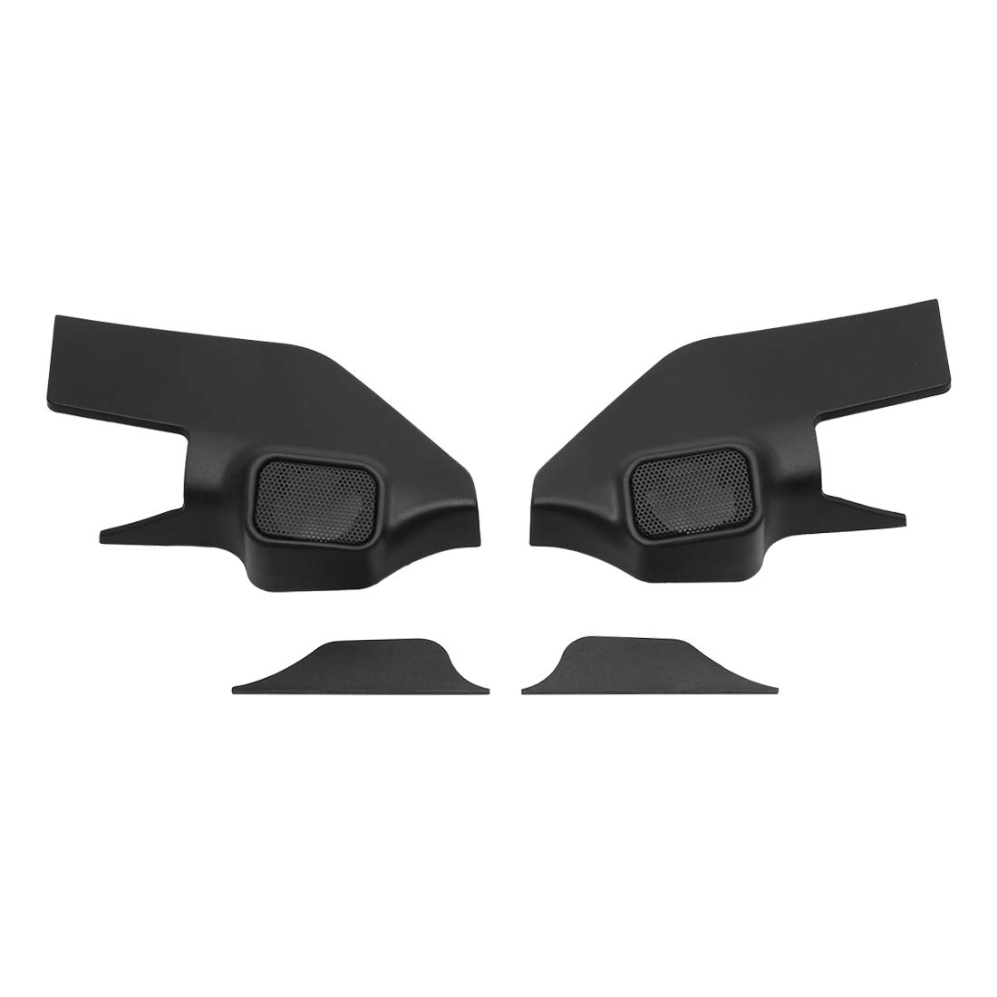 uxcell Pair Black Car Speaker Trim Cover Tweeter Protector for 2013-2017 Nissan Tiida