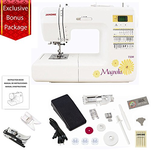 janome-7330-magnolia-computerized-sewing-machine-with-30-built-in-stitches-plus-ultra-glide-foot-set