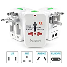 Insten All-in-One Universal World Wide Travel Charger Adapter Plug