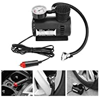 Lukzer 1 Pc Multipurpose Air Compressor Pump 12V Mini Portable for Car & Bike Air Compressor Gauge 300 PSI Tyre Inflator Pump