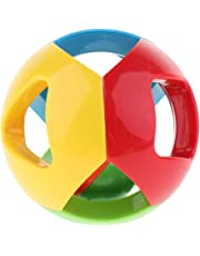 Blesiya Baby Toy Gift Rattles Plastic Hand Shake Jingle Ball Ring Early Educational Toys, Eye-Hand Coordination, Visual and Hearing, 4 Colors Ball