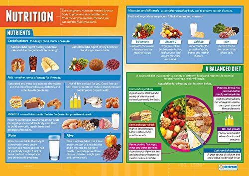 Nutrition | PSHE Posters | Laminated Gloss Paper Measuring 33