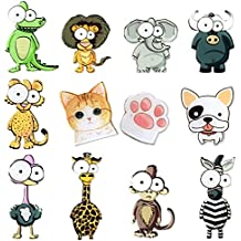 Big Eyes Animals Fridge Magnets (12 Pack) Refrigerator Magnets, School Locker Accessories Funny Gift Prizes for Kids Girls Boys. For Whiteboard Classroom Cute Lockers Decorations