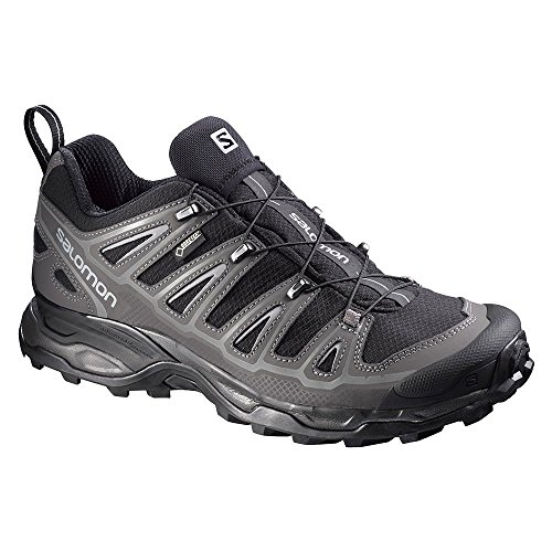 Salomon Men's X Ultra 2 GTX Hiking Shoe, Black/Autobahn/Pewter, 9.5 D US
