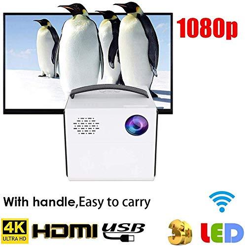 Mini Beamer, Handybeamer , Tragbar Videoprojektor Smart-Projektor Heimkino-Projektor HD 1080p Projektor J10 mit 4Ω 3W x…