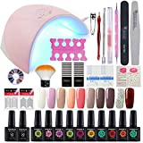 Gelongle 10 Colors Nail Gel Polish with 36W Nail Dryer Lamp Art Decoration - Best Reviews Guide