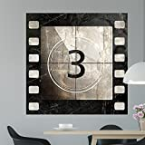 Vintage Movie Countdown Color Bakery Wall Mural by Wallmonkeys Peel and Stick Graphic (48 in H x 48 in W) WM40448