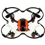 RC Quadcopter 2.4GHz 4.5CH 6-Axis Gyro Orange Mini RC Drone with LED lights, 3D Flips, Headless Mode