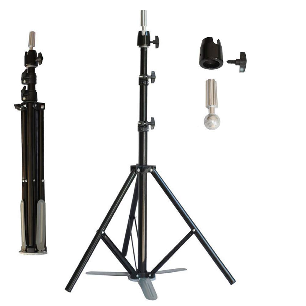 2019 New Style Rose Tripod Training Doll Head Mannequin Head Manikin Canvas Block Head Stand Tripod Aluminium Alloy Round Leg Strong Stable Hair Extensions & Wigs