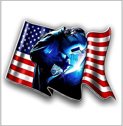 Welder American Flag Vinyl Decal StickerWelder Decals Stickers