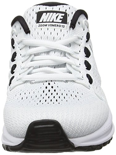 Vomero Da Wmns Donna Scarpe Corsa 12 pure Zoom black white Air Nike Bianco Platinum wc4pqFTp