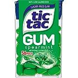 Tic Tac Gum, Sugar Free Chewing Gum, Spearmint, 12