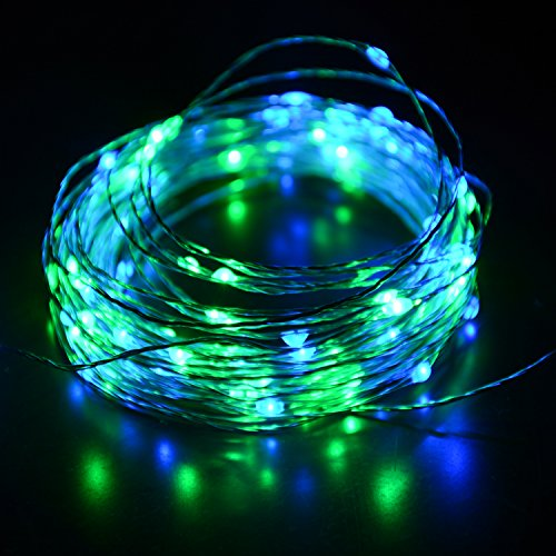 @HAHOME Starry 100 LEDs 33-feet USB String Lights with Power Adapter, (Green Led Usb)