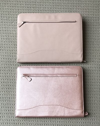 Professional PU Leather Padfolios Business Portfolio Document Organizer & Holder Padfolio Case for Notepads,Pens,Phone,Documents,Business Cards Blush Pink by Veracity & Verve (Image #1)