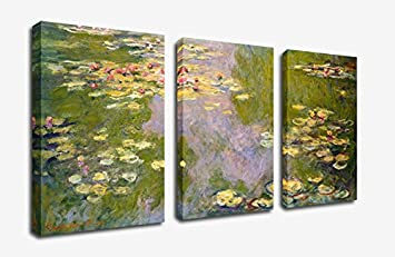 Amazon canvas wall art decor water lilies 1919 claude monet canvas wall art decor water lilies 1919 claude monet painting 30quot x 60quot framed teraionfo