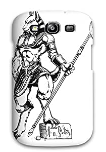 Rugged Skin Case Cover For Galaxy S3- Eco-friendly Packaging(anubis)