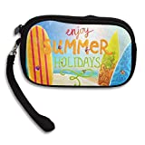 WCVRUT Unisex Clutch Wallet For Woman Ladies -Enjoy Summer Holidays Long Purse Bag Men Gentlemen