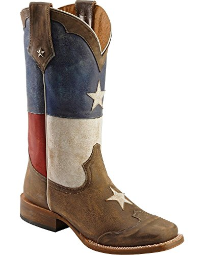 Roper Men's Texas Flag Western Boot,Red/White/Blue,9.5 M US (Mens Boot 1/2 Cowboy)