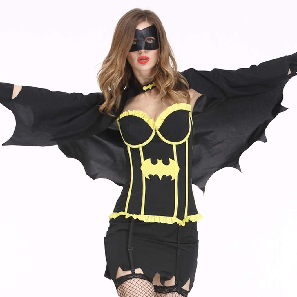Goosun Disfraz De Lady Halloween Bat Disfraz De Dama De Halloween ...