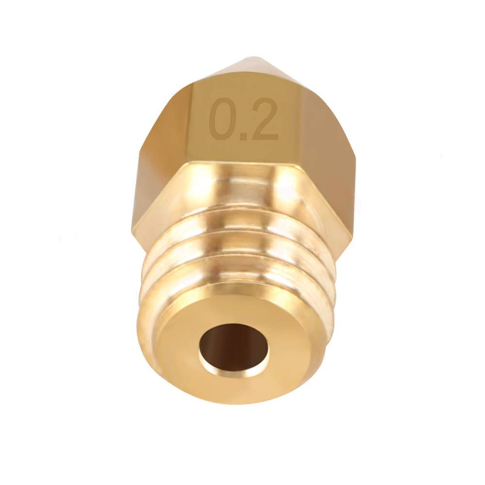 Festnight 10pcs//lot MK8 M6 Threaded Stainless Steel//Brass Nozzle 1.75mm for 3D Printer Parts Silver 0.6mm