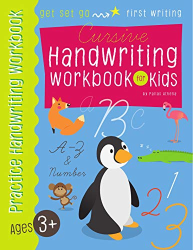 Cursive handwriting workbook for Kids: A-Z uppercase, lowercase cursive letters and 1-10 number for Kids Grade 1-5 (Letter Tracing book for Kids 2) -