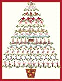 "Caspari Holiday Cards, ""Twelve Days of Christmas"" Design, Box of 20 Christmas Cards with Envelopes"