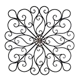 Wrought Iron 36-inch Scrolled Wall Decor