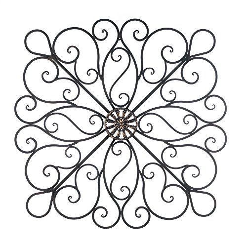 Wrought Iron 36-inch Scrolled Wall Decor (Square Iron Wall Decor compare prices)