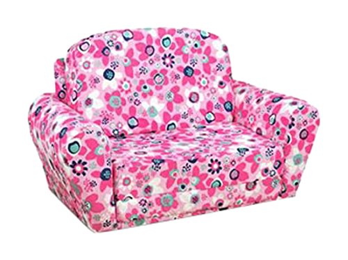 Kangaroo Trading Sweet Dreamer Wildflower with Passion Pink Childrens Sofas by Kangaroo Trading