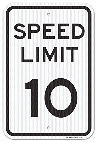 Speed Limit 10 MPH Sign, Federal 12