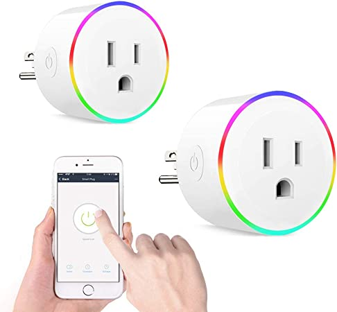 Control Devices by Voice//App Anywhere with Timer Function. Smart Plug Wi-Fi Power Socket Outlet Works with  Alexa 2 Packs Mini Smart Wi-Fi Plug for Smart Home Automation IFTTT /& Google Home