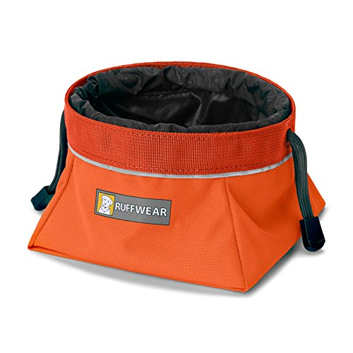 Cheap RUFFWEAR Quencher Cinch Top II Dog Bowl Large Pumpkin Orange