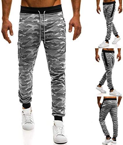 ジョギングスウェットパンツを実行しているメンズロングカジュアルスポーツパンツスリムフィット格子縞のズボン