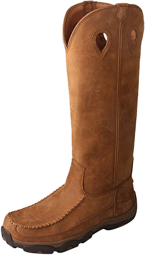 "Twisted X Men's 17"" Viperguard Waterproof Snake Tall Boots, Distressed Saddle, 9W 518sf-KavvLUL1001_"