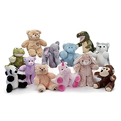 "BEAREGARDS.COM Lot of 10 Recordable 8"" Plush Stuffed Animals (Assorted); Ultrasound Baby Heartbeat Bears: Toys & Games"