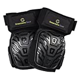 Gel Knee Pads for work designed to prevent slipping/sliding for gardening, construction, floor, tiling - Industrial grade heavy duty flexible kneepad- soft kneepads fits all (small-large) men/women