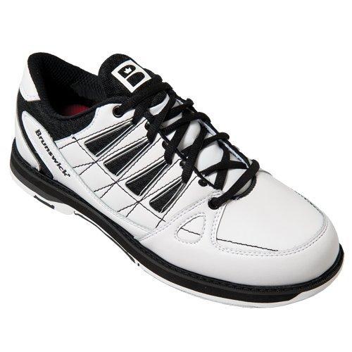 Brunswick Men's Arrow Bowling Shoes, White/Black, 8.0