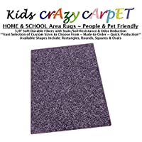 8x10 - Misty Lilac ~ Kids Crazy Carpet Home & School Area Rugs | People & Pet Friendly – R2X Stain Resistance & Odor Reduction