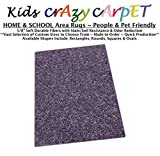 2'x3' Misty Lilac ~ Kids Crazy Carpet Home & School Area Rugs | People & Pet Friendly – R2X Stain Resistance & Odor Reduction