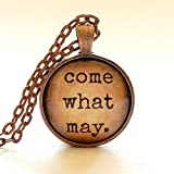 Come What May Necklace | Glass Pendant | Glass Dome Necklace | Gift Idea | Moulin Rouge Song | Romantic Gift | Free Gift Box