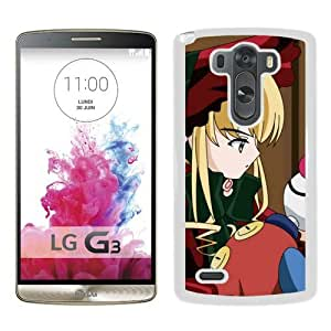 Popular And Unique Designed Cover Case For LG G3 With Girl Blond Clown Toy Hat white Phone Case BY supermalls