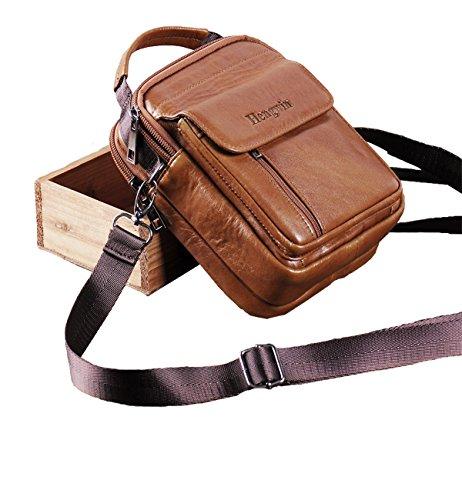 Small Leather Shoulder Bag Messenger Bag Work Bag Satchel Waist Bag