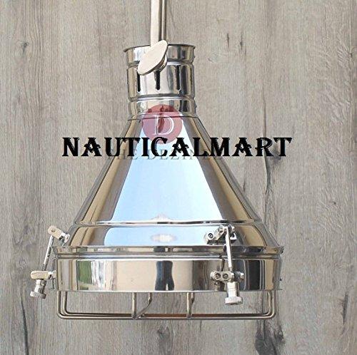 Nauticalmart Nautical Nickel Grill Ceiling Retro Pendant Industrial Hanging Light