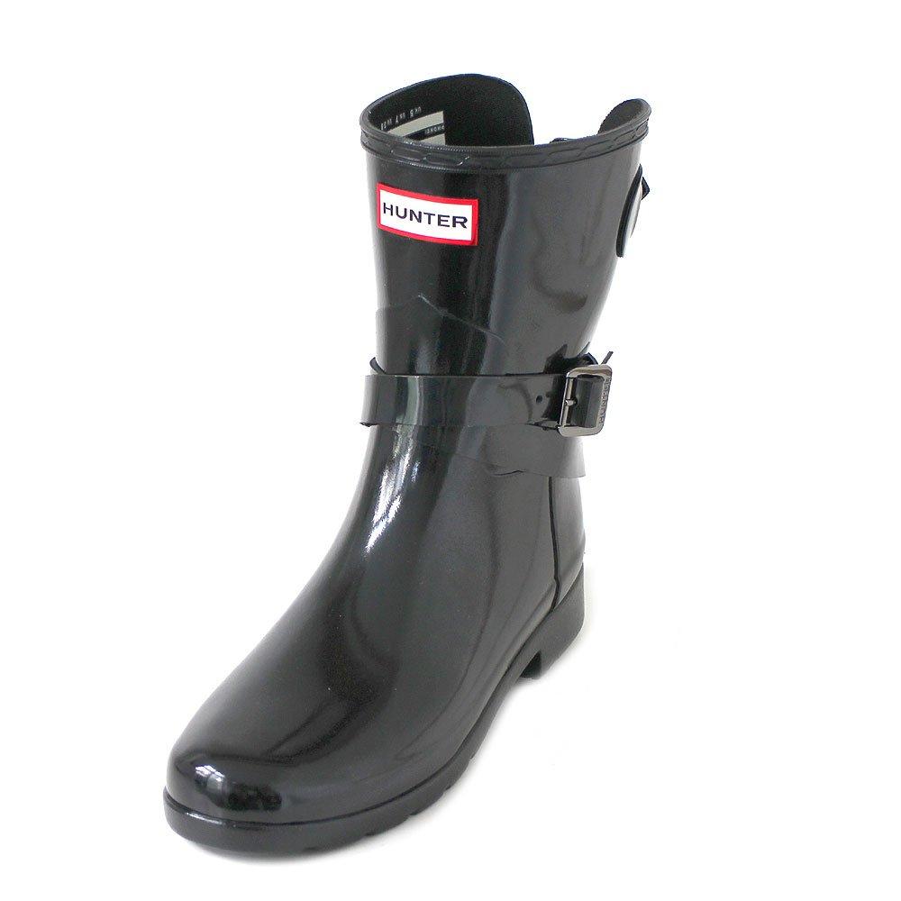 Hunter Womens Refined Back Adjustable Short w/Ankle Strap Gloss B0779HNYHN 11  US|Black