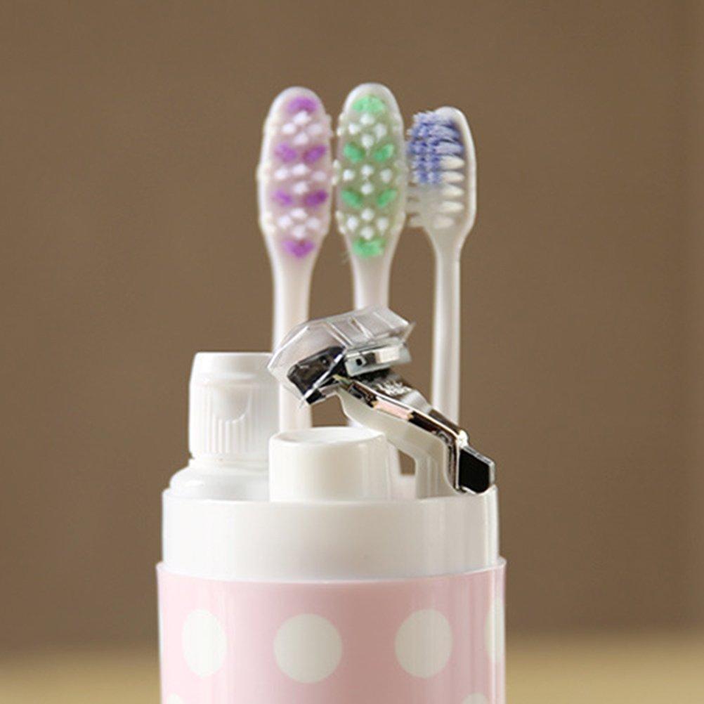 ounona caja porta cepillos y pasta de dientes de rosa ...