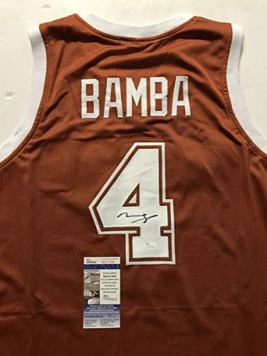 (Autographed/Signed Mohamed Mo Bamba Texas Longhorns Orange College Basketball Jersey JSA COA)