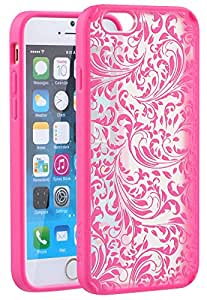 Vena [TACT Armor] Case Compatible with Apple iPhone 6s Plus / 6 Plus, [CornerGuard | Shock Absorption] Slim Protective Hybrid Case Cover - Pink [Quill]