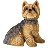 Cheap Sandicast Yorkshire Terrier Sculpture, Sitting, Small Size